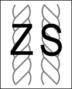 Denominazione Z o S della torsione dei filati
