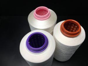 Produciamo rocche ritorte per tintoria di acetato, viscosa, poliestere, nylon e rayon, in diverse grammature e diametri.